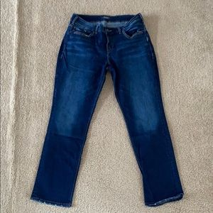 """Silver """"Avery Straight"""" Jeans"""